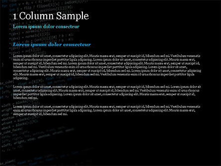 Programming Code on Computer Monitor PowerPoint Template, Slide 4, 14863, Technology and Science — PoweredTemplate.com