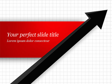 Diagonal Arrow PowerPoint Template