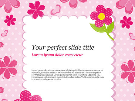 Holiday/Special Occasion: Cute Flowers Frame PowerPoint Template #14866