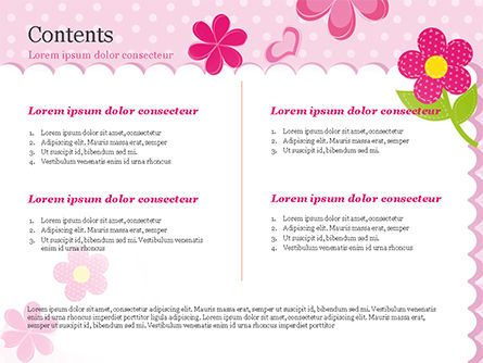 Cute Flowers Frame PowerPoint Template Slide 2