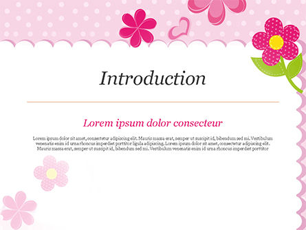 Cute Flowers Frame PowerPoint Template Slide 3