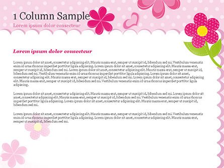 Cute Flowers Frame PowerPoint Template Slide 4