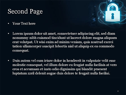 Data Protection Officer PowerPoint Template, Slide 2, 14868, Technology and Science — PoweredTemplate.com