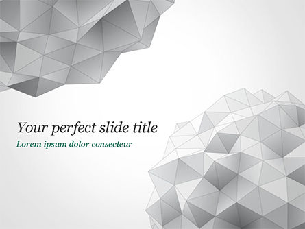 Light Gray Triangular Polygons PowerPoint Template, 14869, Technology and Science — PoweredTemplate.com