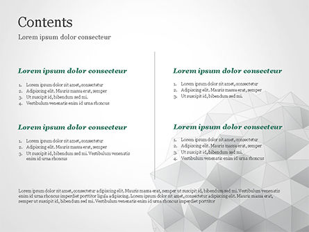 Light Gray Triangular Polygons PowerPoint Template, Slide 2, 14869, Technology and Science — PoweredTemplate.com