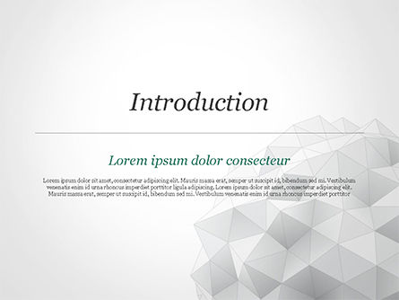 Light Gray Triangular Polygons PowerPoint Template, Slide 3, 14869, Technology and Science — PoweredTemplate.com