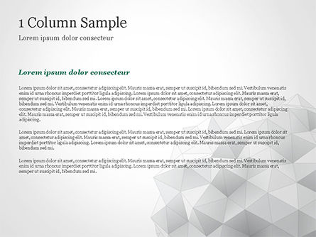 Light Gray Triangular Polygons PowerPoint Template, Slide 4, 14869, Technology and Science — PoweredTemplate.com