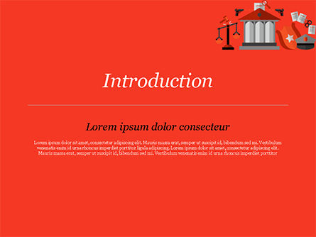 Law and Order Illustration Concept PowerPoint Template, Slide 3, 14870, Legal — PoweredTemplate.com