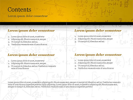 Math Education Background PowerPoint Template, Slide 2, 14873, Technology and Science — PoweredTemplate.com