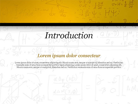 Math Education Background PowerPoint Template Slide 3