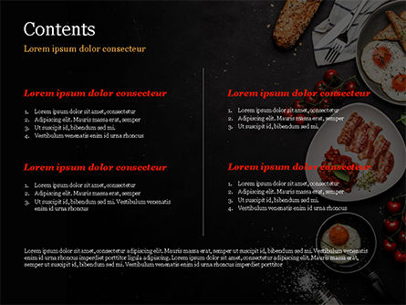 Cooking a Breakfast PowerPoint Template, Slide 2, 14874, Food & Beverage — PoweredTemplate.com