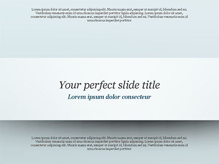 Strip and Shadow PowerPoint Template, 14875, Abstract/Textures — PoweredTemplate.com