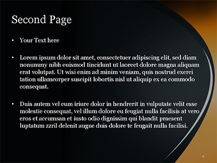 Black and Orange Abstract Background PowerPoint Template, Slide 2, 14878, Abstract/Textures — PoweredTemplate.com