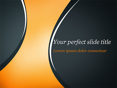 Black and Orange Abstract Background PowerPoint Template, 14878, Abstract/Textures — PoweredTemplate.com
