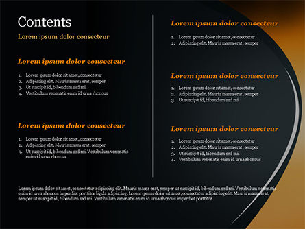 Black and Orange Abstract Background PowerPoint Template Slide 2