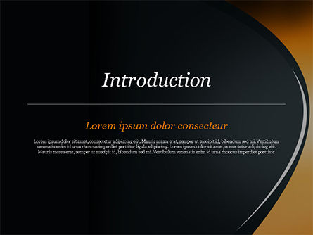 Black and Orange Abstract Background PowerPoint Template Slide 3