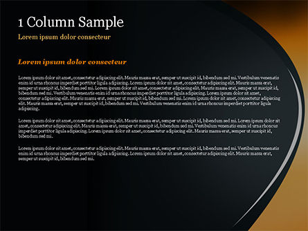 Black and Orange Abstract Background PowerPoint Template, Slide 4, 14878, Abstract/Textures — PoweredTemplate.com