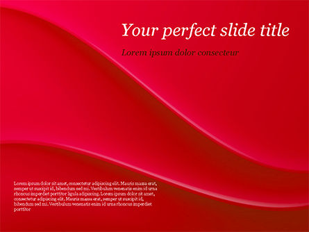 Soft Curves with Shadow PowerPoint Template