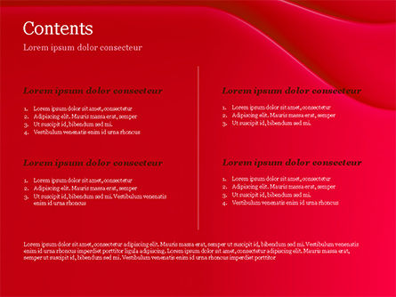 Soft Curves with Shadow PowerPoint Template Slide 2