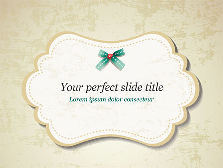 baby shower frame powerpoint template, backgrounds | 14882, Modern powerpoint