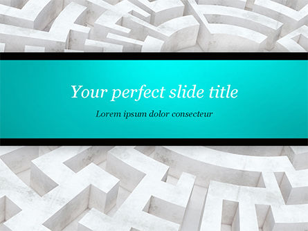 Business Concepts: Labyrinth of Decision PowerPoint Template #14883