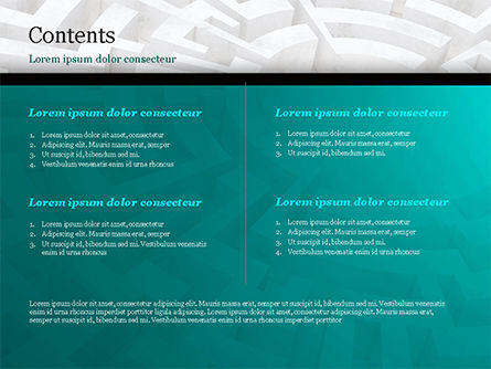 Labyrinth of Decision PowerPoint Template, Slide 2, 14883, Business Concepts — PoweredTemplate.com
