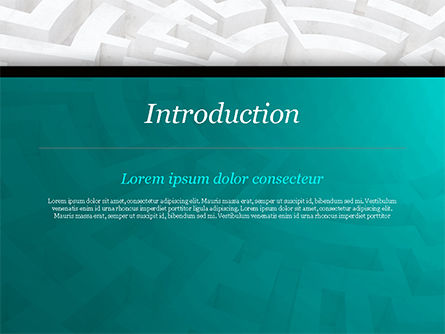 Labyrinth of Decision PowerPoint Template, Slide 3, 14883, Business Concepts — PoweredTemplate.com