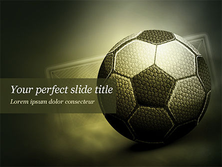Soccer Ball PowerPoint Template, 14884, Sports — PoweredTemplate.com