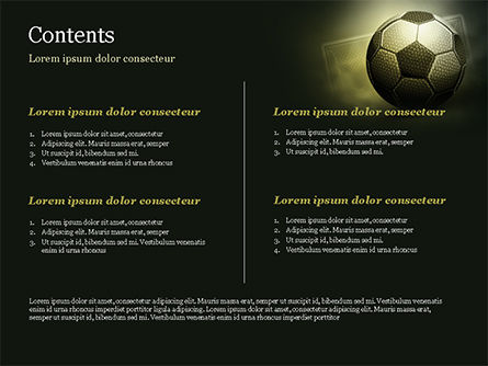 Soccer Ball PowerPoint Template, Slide 2, 14884, Sports — PoweredTemplate.com