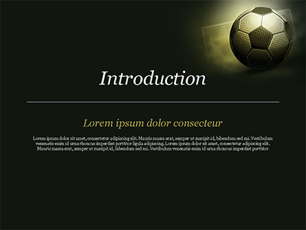 Soccer Ball PowerPoint Template, Slide 3, 14884, Sports — PoweredTemplate.com