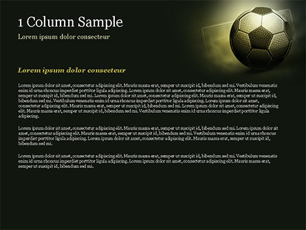Soccer Ball PowerPoint Template, Slide 4, 14884, Sports — PoweredTemplate.com