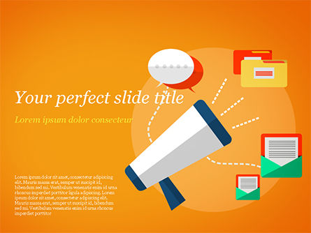 Marketing PowerPoint Template, 14885, Careers/Industry — PoweredTemplate.com