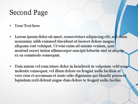 Flat Hexagons Abstract Background PowerPoint Template, Slide 2, 14886, Abstract/Textures — PoweredTemplate.com