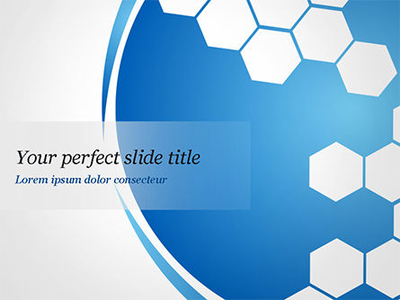 Flat Hexagons Abstract Background PowerPoint Template, 14886, Abstract/Textures — PoweredTemplate.com