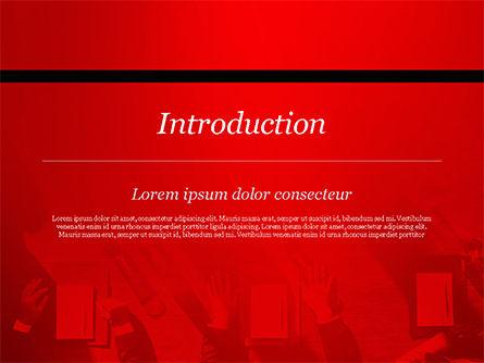 Meeting Corporate Brainstorming Teamwork Concept PowerPoint Template, Slide 3, 14887, Business — PoweredTemplate.com
