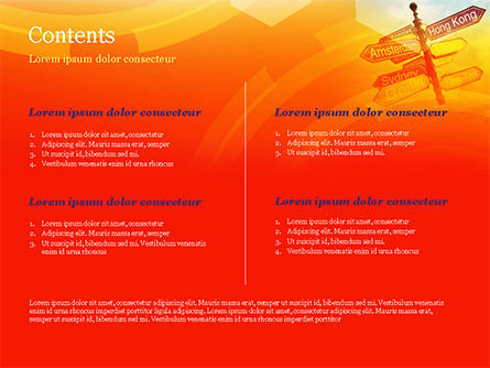 Directional Cities And Airplane in The Sky PowerPoint Template, Slide 2, 14888, Careers/Industry — PoweredTemplate.com