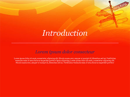 Directional Cities And Airplane in The Sky PowerPoint Template, Slide 3, 14888, Careers/Industry — PoweredTemplate.com