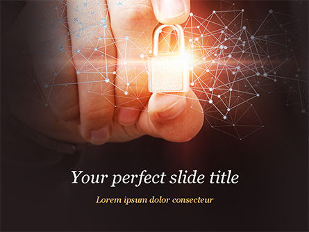 Network Security Protection PowerPoint Template, 14890, Technology and Science — PoweredTemplate.com