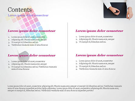 Graphic Designer at Work PowerPoint Template, Slide 2, 14893, Careers/Industry — PoweredTemplate.com