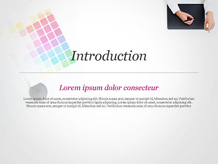 Graphic Designer at Work PowerPoint Template, Slide 3, 14893, Careers/Industry — PoweredTemplate.com