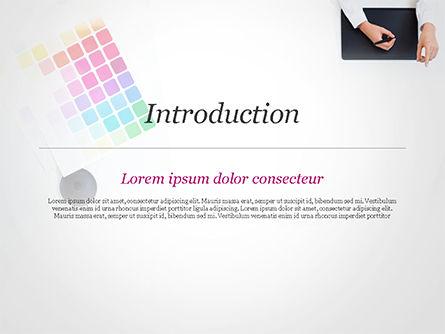 Graphic Designer at Work PowerPoint Template Slide 3