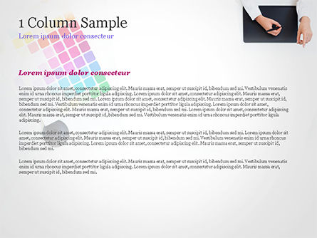 Graphic Designer at Work PowerPoint Template, Slide 4, 14893, Careers/Industry — PoweredTemplate.com