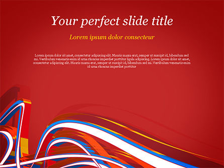 Abstract/Textures: Rainbow Abstract Lines Flow PowerPoint Template #14896