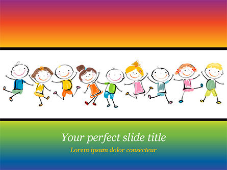 Education & Training: Happy Children's Day PowerPoint Template #14898