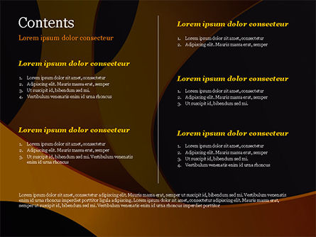 Orange and Black Abstraction PowerPoint Template, Slide 2, 14899, Abstract/Textures — PoweredTemplate.com