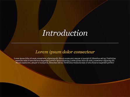 Orange and Black Abstraction PowerPoint Template, Slide 3, 14899, Abstract/Textures — PoweredTemplate.com