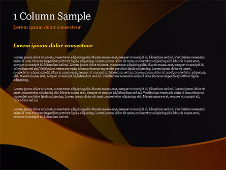 Orange and Black Abstraction PowerPoint Template, Slide 4, 14899, Abstract/Textures — PoweredTemplate.com