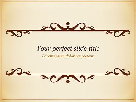 Calligraphy Frame PowerPoint Template, 14901, Abstract/Textures — PoweredTemplate.com