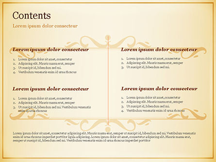 Calligraphy Frame PowerPoint Template Slide 2