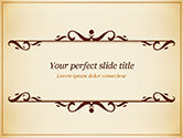 Abstract/Textures: Calligraphy Frame PowerPoint Template #14901